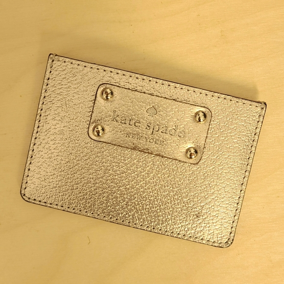 kate spade Accessories - Kate Spade Gold Wellesley Graham card holder